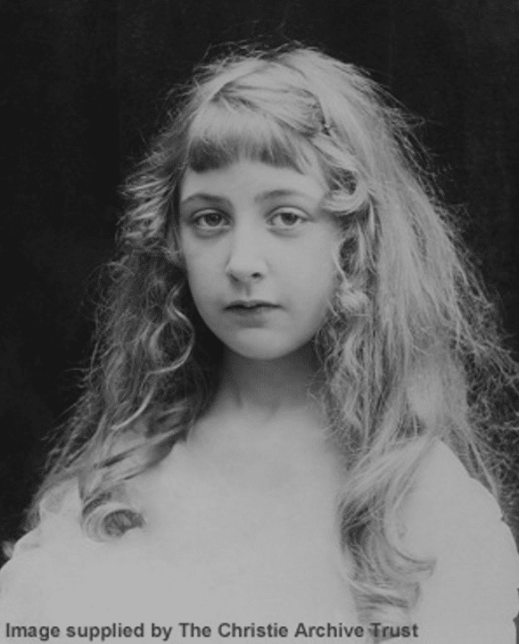Childhood photo of Agatha Christie